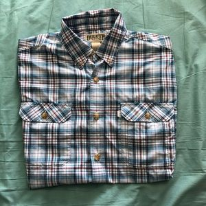Duluth trading short sleeve button down size Large